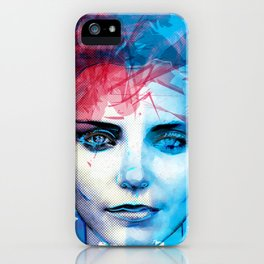 Blue Girl  iPhone Case