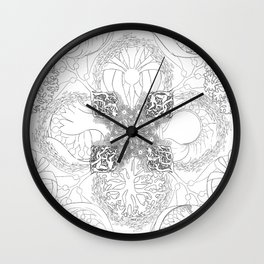 The Ocean's, Black and White Wall Clock