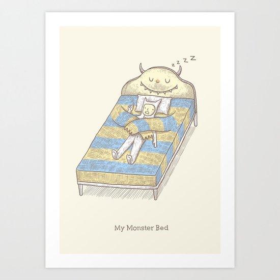 My Monster Bed Art Print