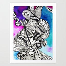 ZenDoodle2 Art Print