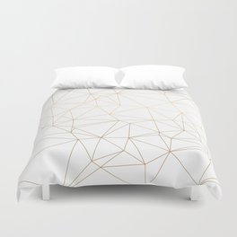 Geometric Gold Minimalist Design Duvet Cover