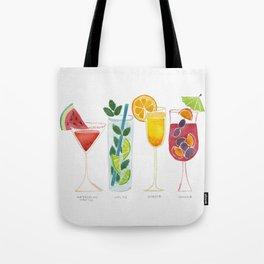 Summer Cocktails Tote Bag