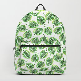 Monstera Green Leaf Backpack