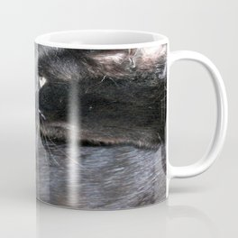 Black Cat Looking Back Coffee Mug