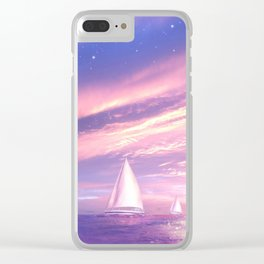 Sailing at Sunset Clear iPhone Case