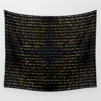 writing Wall Tapestries featuring Marigolds + Journal Writing Overlay by 3 Red Threads