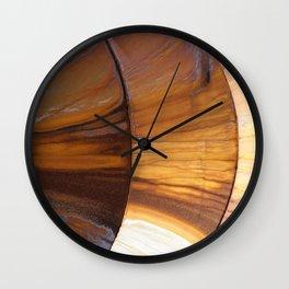 Golden Rust Wall Clock