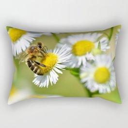 Bee on flower 83 Rectangular Pillow