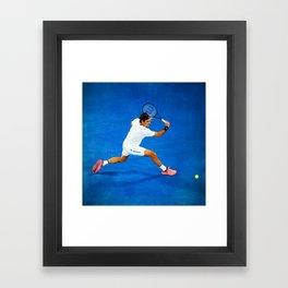 Roger Federer Sliced Backhand Framed Art Print