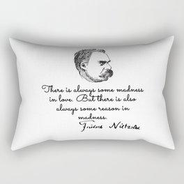 Nietzsche philosopher Rectangular Pillow