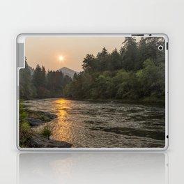 Fire Sunrise on McKenzie River Laptop & iPad Skin