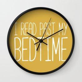 I Read Past My Bedtime (Mustard) Wall Clock