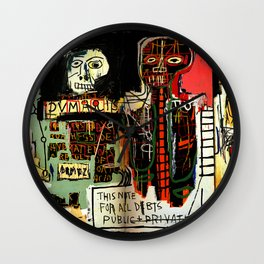 Jean-Michel Basquiat - Notary 1983 Wall Clock