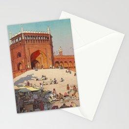 Hiroshi Yoshida Jami Masjid Vintage Japanese Woodblock Print East Asian Cultural Art Stationery Cards