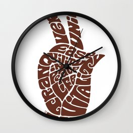 Life Force Hand in Milk Chocolate Wall Clock