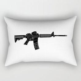 AR15 Rifle Silhouette Rectangular Pillow