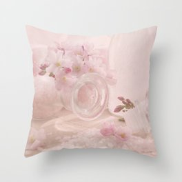 Almond blossoms in Vintage Style Throw Pillow