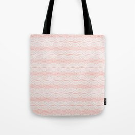 Lace on Pink Tote Bag