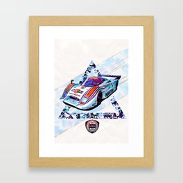 "Lancia LC2 ""Lancia-Ferrari""// Le Mans Race Cars Framed Art Print"