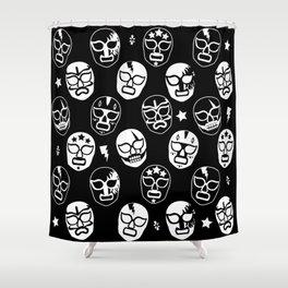 Máscaras (Black & White) Shower Curtain