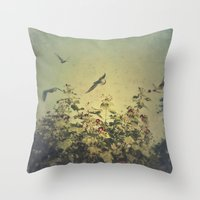 freedom Throw Pillows featuring Freedom by Victoria Herrera