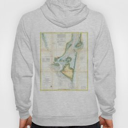 Vintage Map of Cape Fear (1857) Hoody