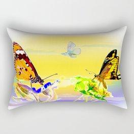 SunsetandButterflies Rectangular Pillow