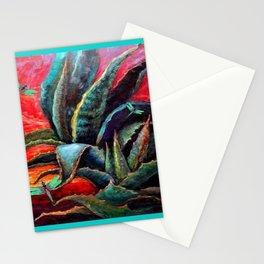 SOUTHWEST DESERT AGAVE & BLUE DRAGONFLIES Stationery Cards