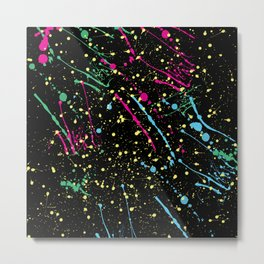 flashdance splatter paint Metal Print
