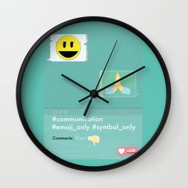 Emoji Wall Clock