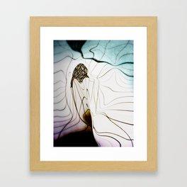 Glacial Foliation Framed Art Print