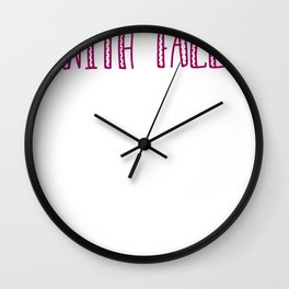 Obessessed With Fall Wall Clock