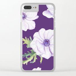 Anemones Purple #society6 #buyart Clear iPhone Case