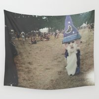 wizard Wall Tapestries featuring Wizard by Gabrielle Wall