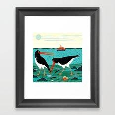 The Oystercatchers Framed Art Print