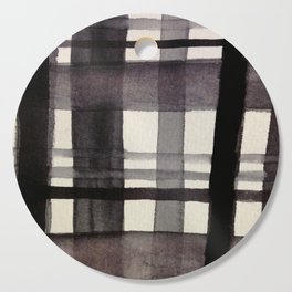 Painterly Plaid Cutting Board