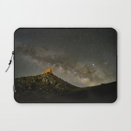 Milky way over the old observatory. Sierra Nevada Laptop Sleeve
