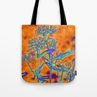 popart Tote Bags featuring PopArt Floral by AlexisAnne