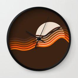 Sundown Stripes Wall Clock