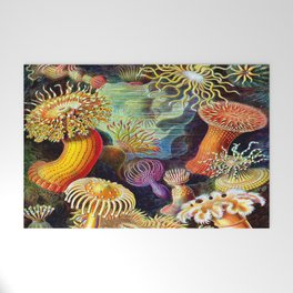 Under the Sea : Sea Anemones (Actiniae) by Ernst Haeckel Welcome Mat