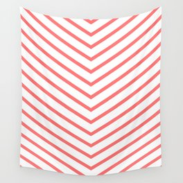 Red lines. Geometric design Wall Tapestry