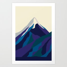 Mount Everest in Blue Art Print