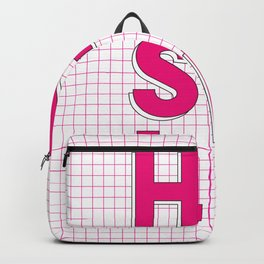 Hustle pink and white inspirational typography poster bedroom wall home decor Backpack