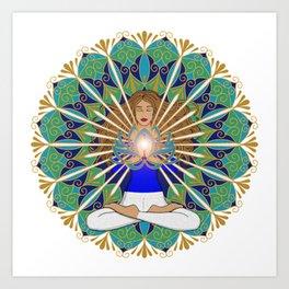 Divine Spark Mandala Art Print