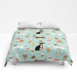 Chihuahua dog breed coffee pupuccino dog art chiwawas chihuahuas gifts Comforters