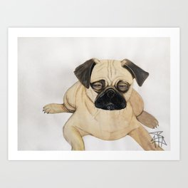 What The Pug?! Art Print