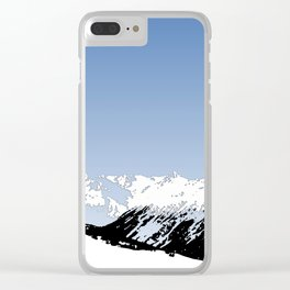 Mountains essentials - Snow and bright sky Clear iPhone Case