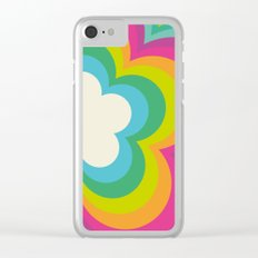 Flower Power Retro Clear iPhone Case