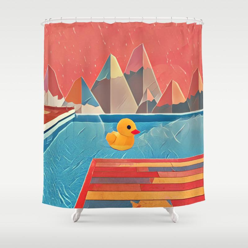 Mallard duck shower curtain - Mallard Duck Shower Curtain 51