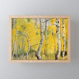 Hope Valley Aspens Framed Mini Art Print